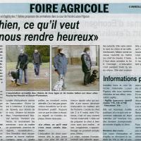 Article foire agricole l'Abeille de la ternoise